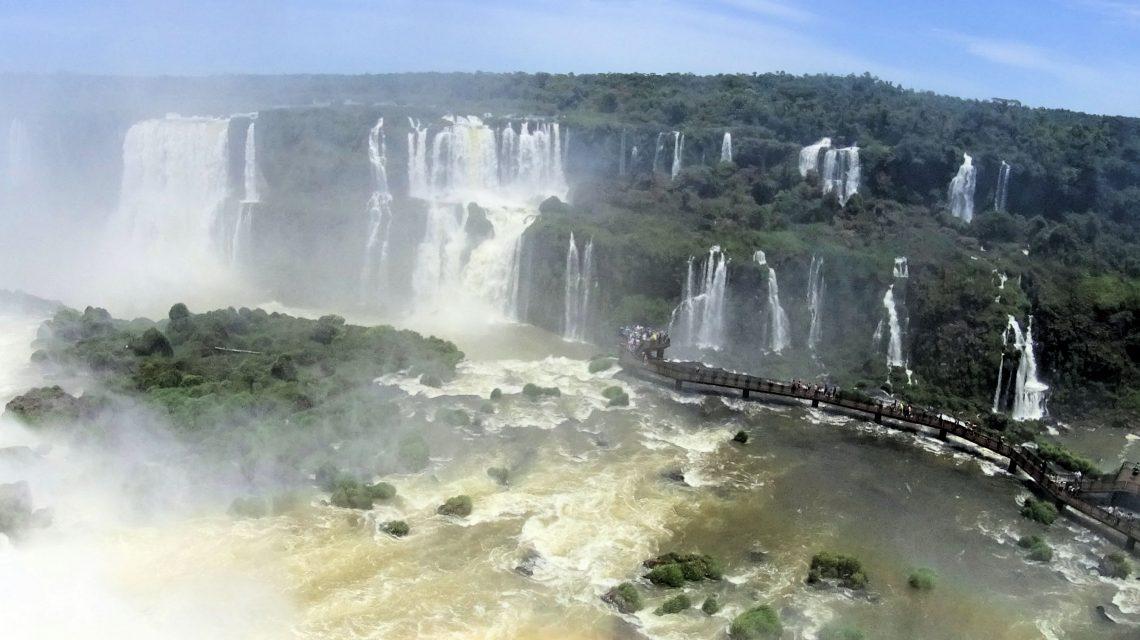 Brazil side walkway