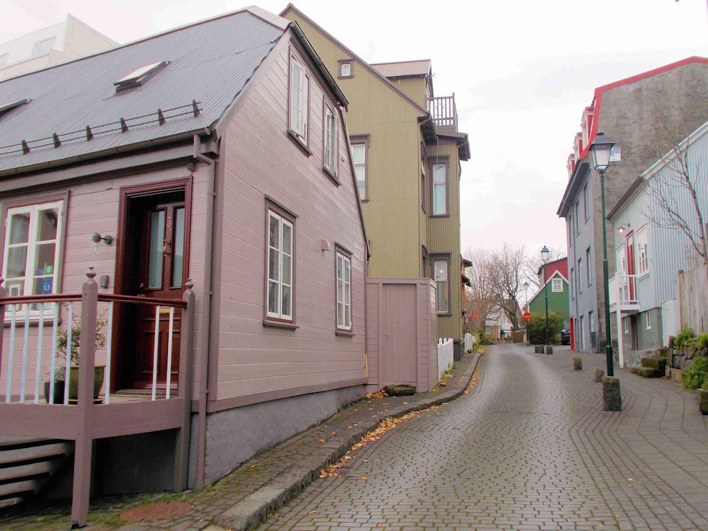 colourful wooden houses Reykjavik on a budget