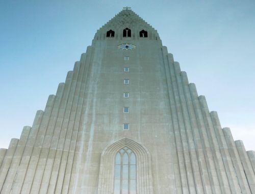 stone cathedral tower Reykjavik Iceland