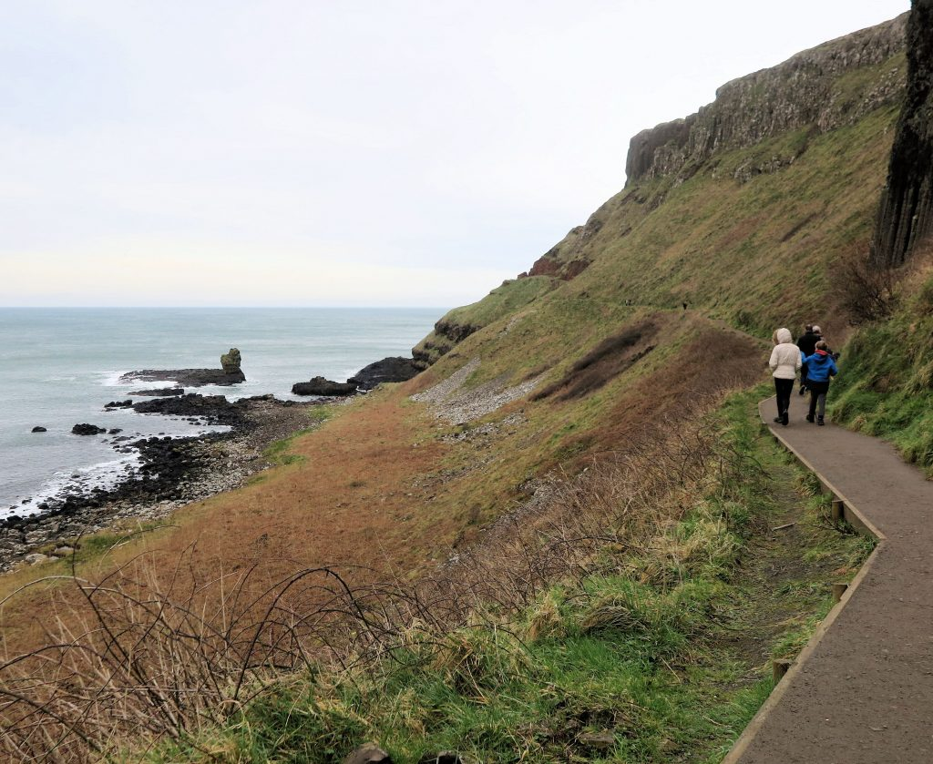 walking at the giants causeway