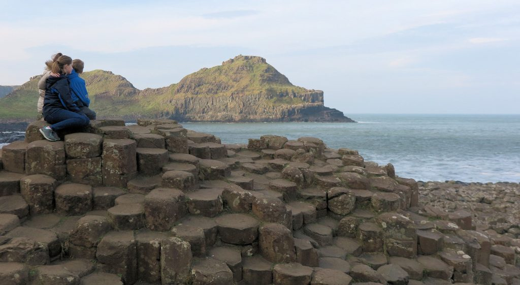 Giants Causeway with kids