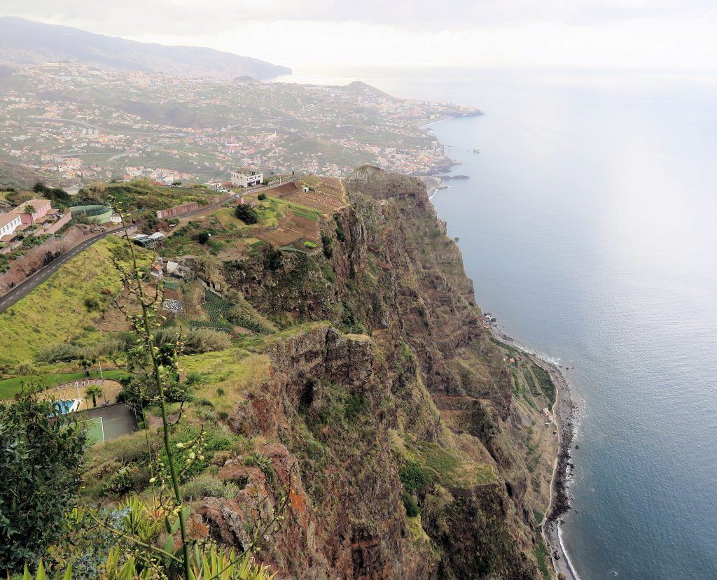 high cliffs and sea view Madeira family holiday