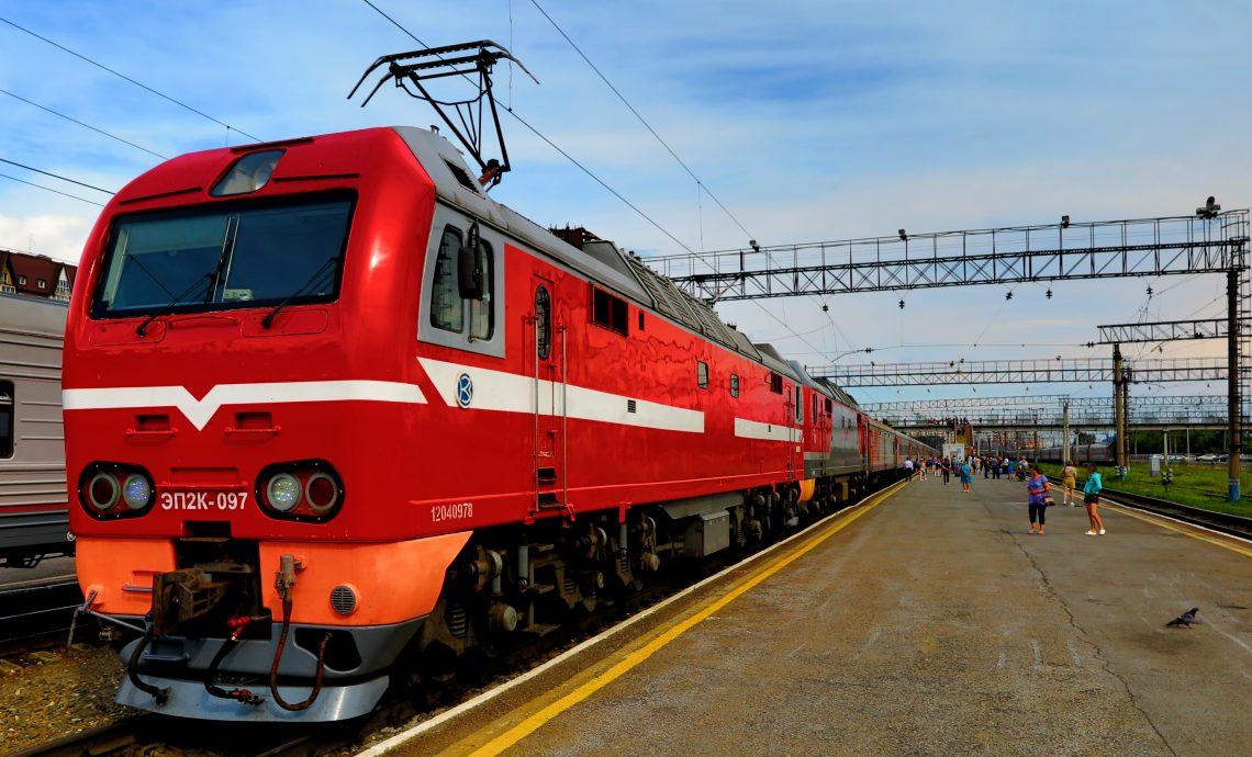 a Trans Siberian train