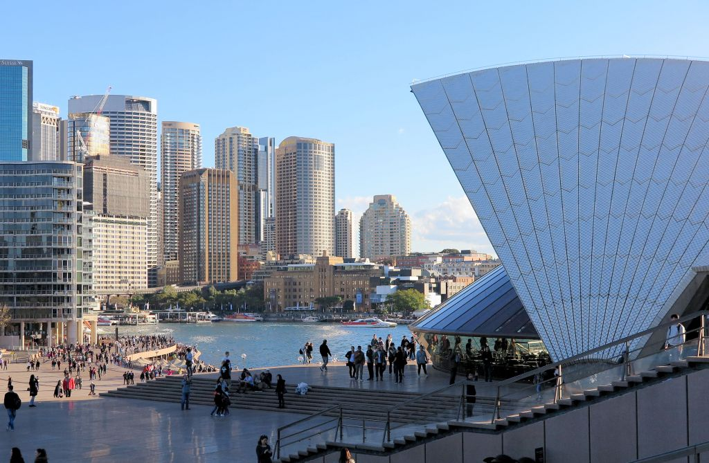 view of Sydney and the opera house