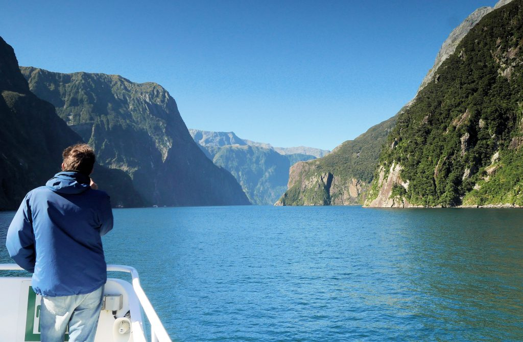 boat trip on Milford Sound fjord