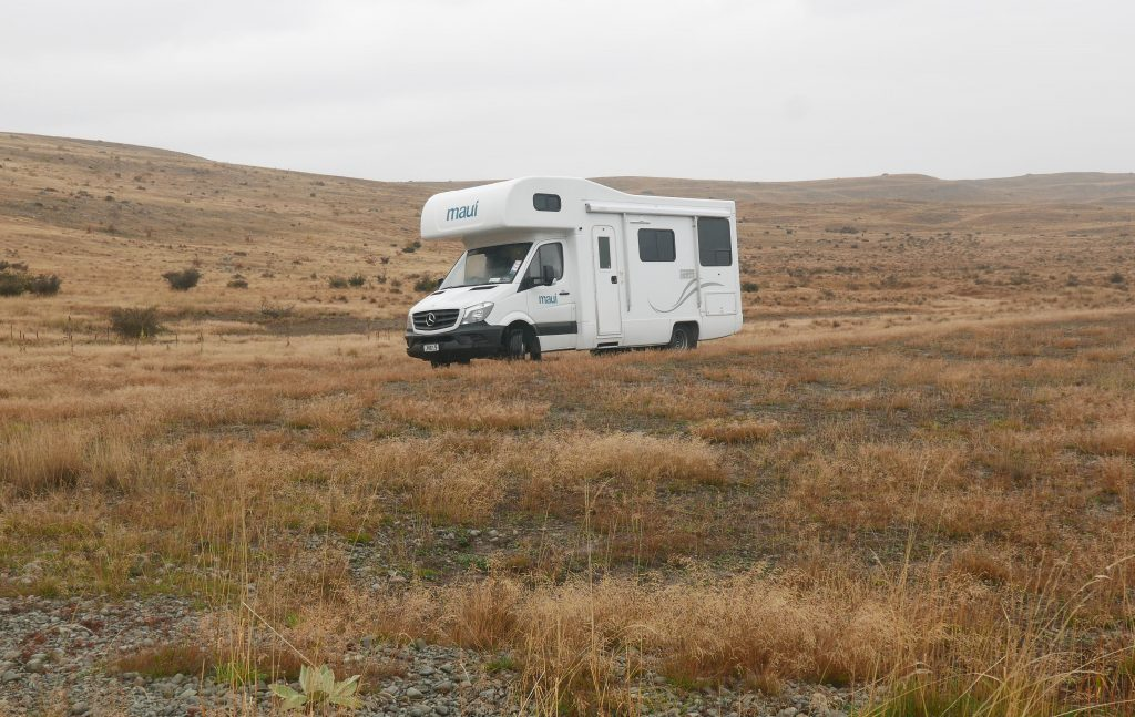 New Zealand in a campervan freedom camping site