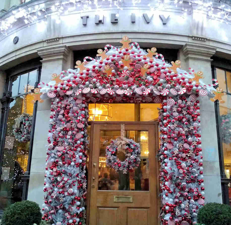 christmas decorations in york at The Ivy