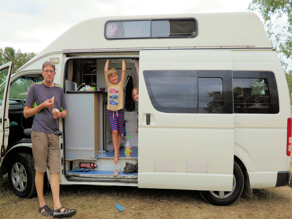 family in a campervan Australia with kids