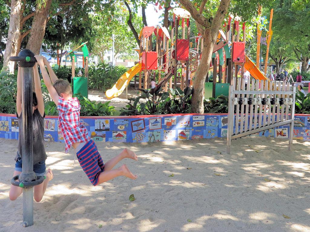 kids in a playground australia road trip