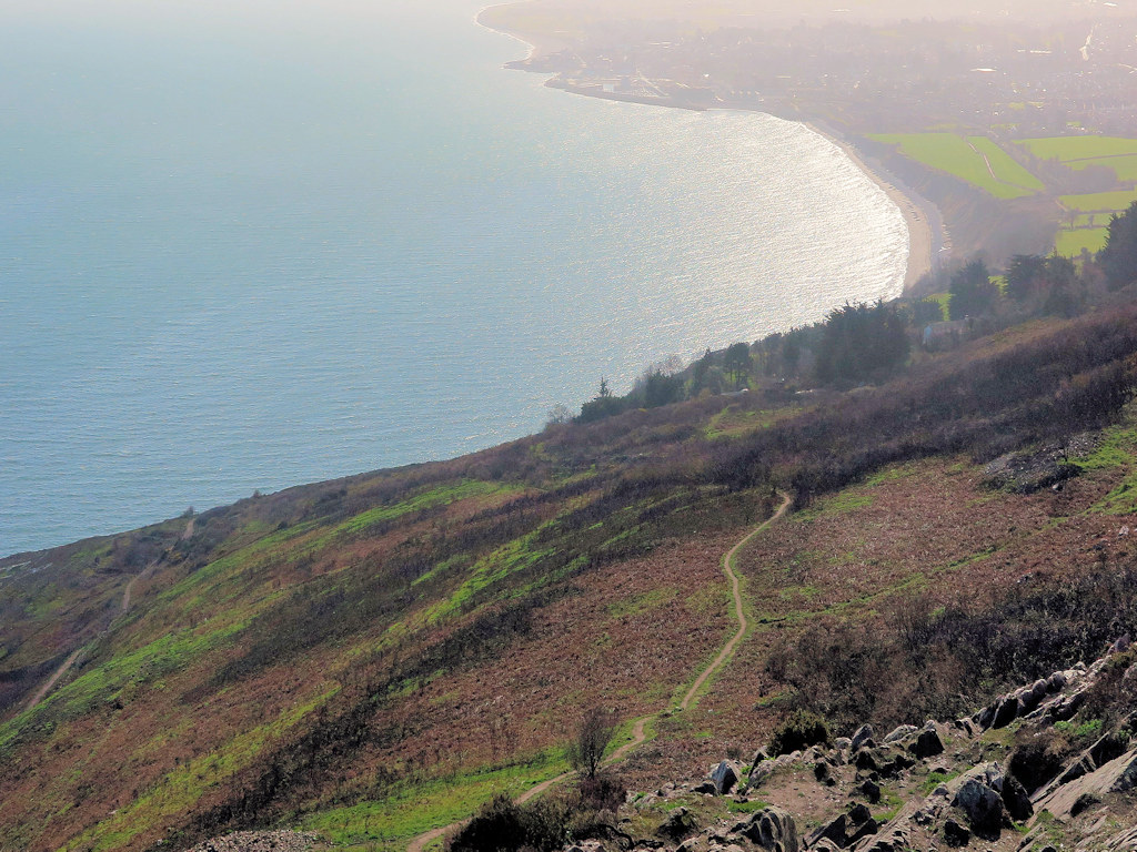 coast path County Wicklow with kids