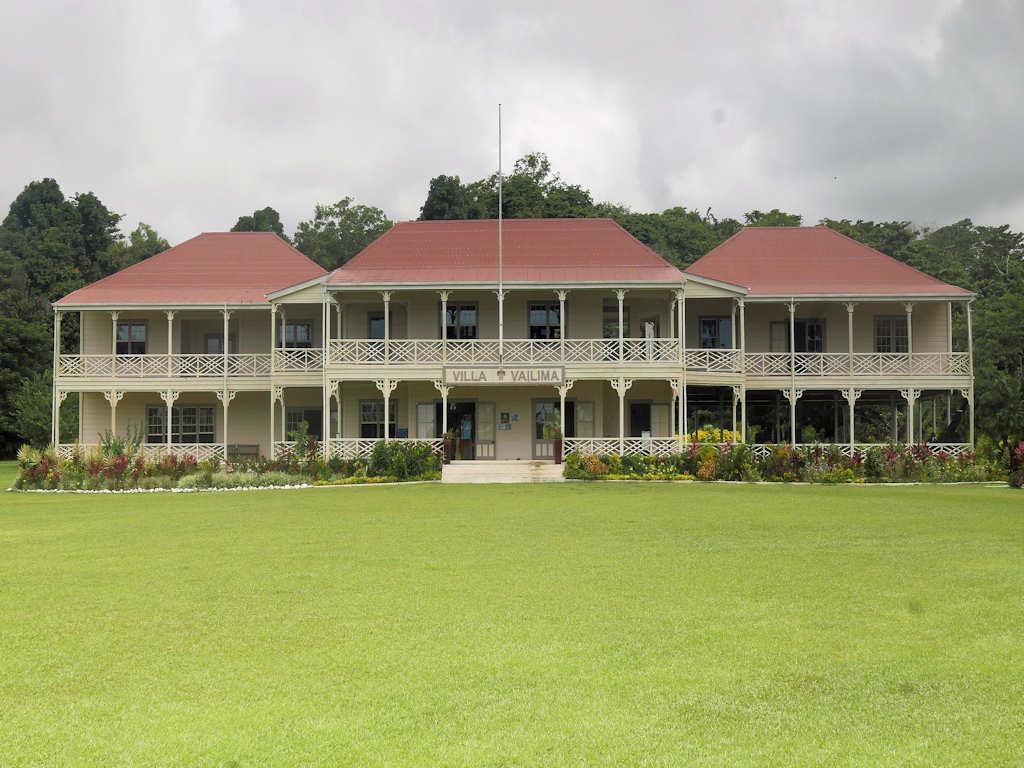 colonial house Robert Louis Stevenson's in apia Samoa