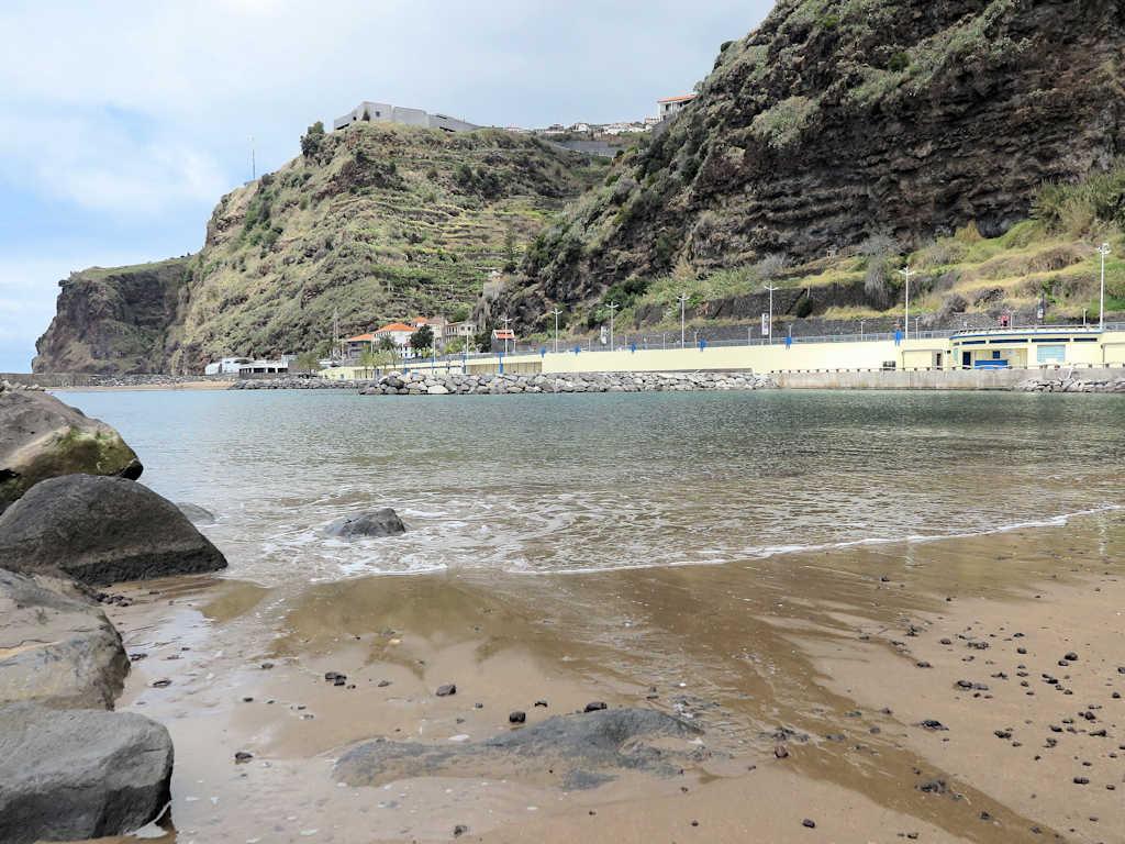 sandy beach and sea on a madeira family holiday
