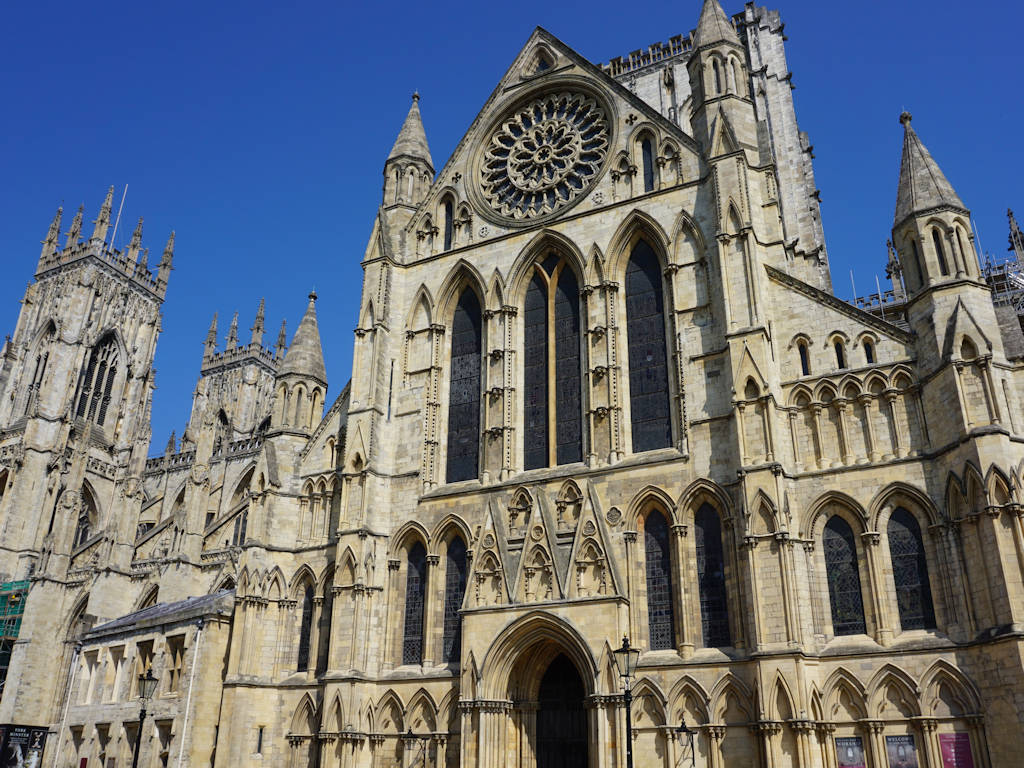 ornate yellowy Yorkstone York Minster cathedral